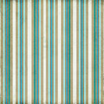 Scrapbook Customs - Travel Collection - 12 x 12 Paper - Paradise - Sand Stripe