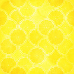 Scrapbook Customs - Travel Collection - 12 x 12 Paper - Paradise - Yellow Citrus