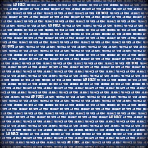 Scrapbook Customs - Military Collection - 12 x 12 Paper - Air Force Pride - Blue