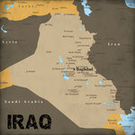 Scrapbook Customs - World Collection - Iraq - 12 x 12 Paper - World Events