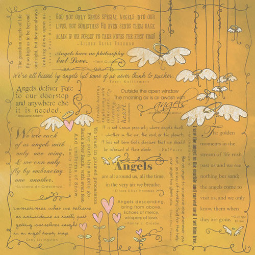 Scrapbook Customs - Religious Collection - 12 x 12 Paper - Quotes - Angel