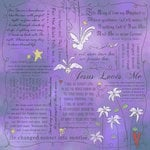 Scrapbook Customs - Religious Collection - 12 x 12 Paper - Quotes - Jesus Loves Me