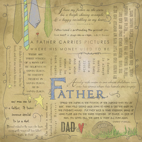 Scrapbook Customs - Religious Collection - 12 x 12 Paper - Quotes - Father