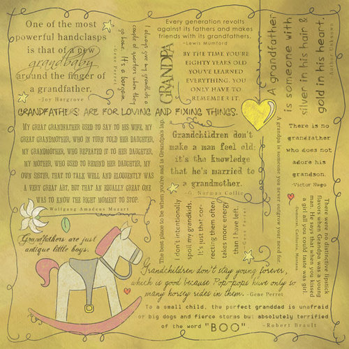 Scrapbook Customs - Religious Collection - 12 x 12 Paper - Quotes - Grandpa
