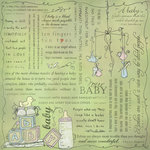 Scrapbook Customs - Religious Collection - 12 x 12 Paper - Quotes - Baby