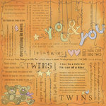 Scrapbook Customs - Religious Collection - 12 x 12 Paper - Quotes - Twins