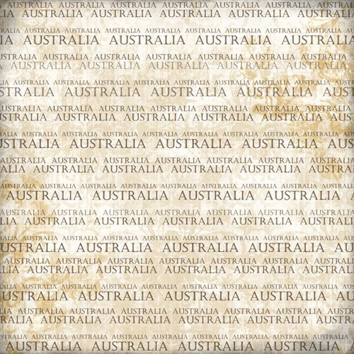 Scrapbook Customs - World Collection - Australia - 12 x 12 Paper - Explore Cream