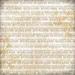 Scrapbook Customs - World Collection - Scotland - 12 x 12 Paper - Explore Cream