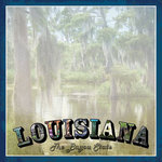 Scrapbook Customs - Vintage Label Collection - 12 x 12 Paper - Louisiana Vintage