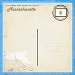 Scrapbook Customs - Vintage Label Collection - 12 x 12 Paper - Massachusetts Vintage Companion