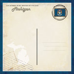 Scrapbook Customs - Vintage Label Collection - 12 x 12 Paper - Michigan Vintage Companion