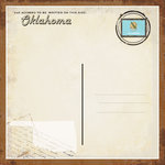 Scrapbook Customs - Vintage Label Collection - 12 x 12 Paper - Oklahoma Vintage Companion