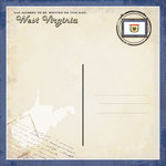 Scrapbook Customs - Vintage Label Collection - 12 x 12 Paper - West Virginia Vintage Companion