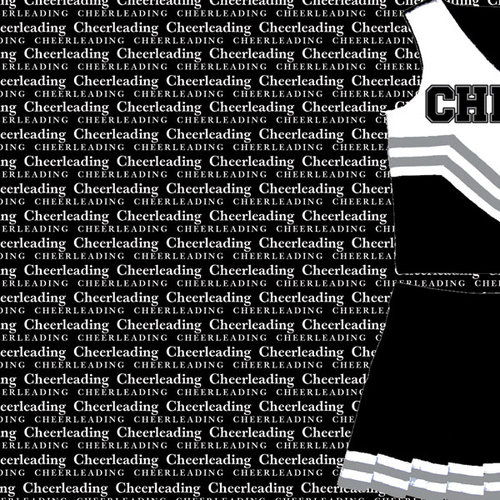 Scrapbook Customs - Sports Collection - 12 x 12 Paper - Cheerleading Go Big Left