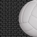 Scrapbook Customs - Sports Collection - 12 x 12 Paper - Volleyball Go Big Left