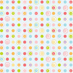 Scrapbook Customs - Easter Collection - 12 x 12 Paper - Fresh Dots