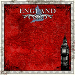 Scrapbook Customs - 12 x 12 Paper - England Sightseeing