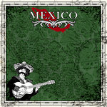 Scrapbook Customs - 12 x 12 Paper - Mexico Sightseeing