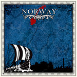 Scrapbook Customs - 12 x 12 Paper - Norway Sightseeing