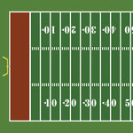 Scrapbook Customs - Sports Collection - 12 x 12 Paper - Football Field - Left