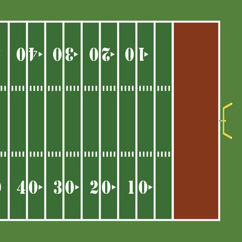 Scrapbook Customs - Sports Collection - 12 x 12 Paper - Football Field - Right