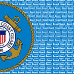 Scrapbook Customs - Military Collection - 12 x 12 Paper - Coast Guard Values Right