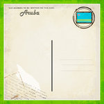 Scrapbook Customs - 12 x 12 Paper - Aruba - Paradise Vintage Companion