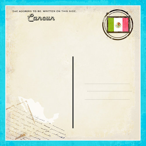 Scrapbook Customs - 12 x 12 Paper - Cancun - Paradise Vintage Companion