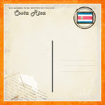 Scrapbook Customs - 12 x 12 Paper - Costa Rica - Paradise Vintage Companion