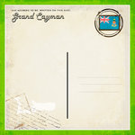 Scrapbook Customs - 12 x 12 Paper - Grand Cayman - Paradise Vintage Companion