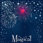 Scrapbook Customs - 12 x 12 Paper - Magical Fireworks Left