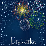 Scrapbook Customs - 12 x 12 Paper - Magical Fireworks Right