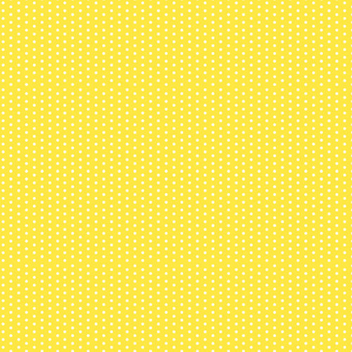 Scrapbook Customs - 12 x 12 Paper - Magical Yellow With Dots
