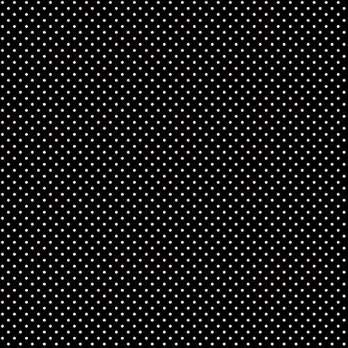 Scrapbook Customs - 12 x 12 Paper - Magical Black With Dots