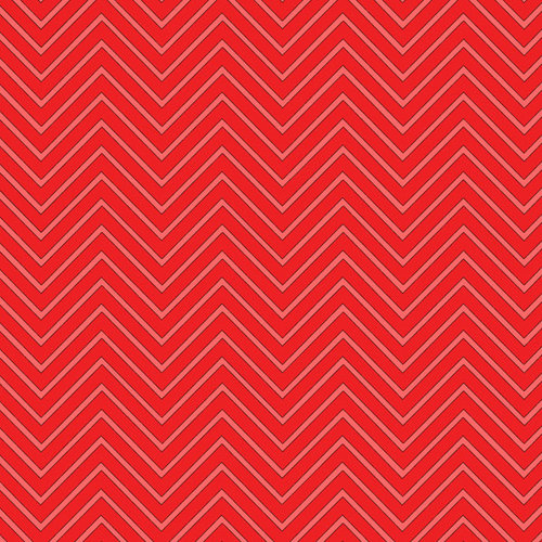 Scrapbook Customs - 12 x 12 Paper - Magical Red Chevron