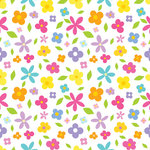 Scrapbook Customs - 12 x 12 Paper - Flower Background