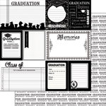 Scrapbook Customs - Graduation Collection - 12 x 12 Double Sided Paper - Journal