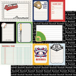 Scrapbook Customs - Sports Pride Collection - 12 x 12 Double Sided Paper - Baseball - Journal