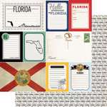 Scrapbook Customs - Vintage Travel Photo Journaling Collection - 12 x 12 Double Sided Paper - Florida - Journal