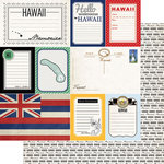 Scrapbook Customs - Vintage Travel Photo Journaling Collection - 12 x 12 Double Sided Paper - Hawaii - Journal