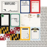 Scrapbook Customs - Vintage Travel Photo Journaling Collection - 12 x 12 Double Sided Paper - Maryland - Journal