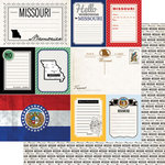 Scrapbook Customs - Vintage Travel Photo Journaling Collection - 12 x 12 Double Sided Paper - Missouri - Journal