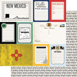 Scrapbook Customs - Vintage Travel Photo Journaling Collection - 12 x 12 Double Sided Paper - New Mexico - Journal