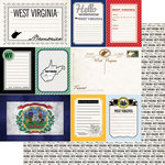 Scrapbook Customs - Vintage Travel Photo Journaling Collection - 12 x 12 Double Sided Paper - West Virginia - Journal