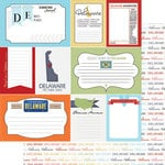 Scrapbook Customs - Travel Photo Journaling Collection - 12 x 12 Double Sided Paper - Delaware - Journal
