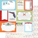 Scrapbook Customs - Travel Photo Journaling Collection - 12 x 12 Double Sided Paper - Florida - Journal