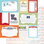 Scrapbook Customs - Travel Photo Journaling Collection - 12 x 12 Double Sided Paper - Louisiana - Journal