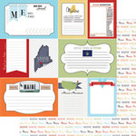 Scrapbook Customs - Travel Photo Journaling Collection - 12 x 12 Double Sided Paper - Maine - Journal