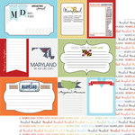 Scrapbook Customs - Travel Photo Journaling Collection - 12 x 12 Double Sided Paper - Maryland - Journal
