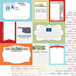 Scrapbook Customs - Travel Photo Journaling Collection - 12 x 12 Double Sided Paper - Oklahoma - Journal